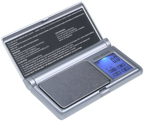 UPC 814859010543, American Weigh Scale Amw-bs-250 Touch Screen Digital Pocket Scale, Gray, 250 X 0.1 G