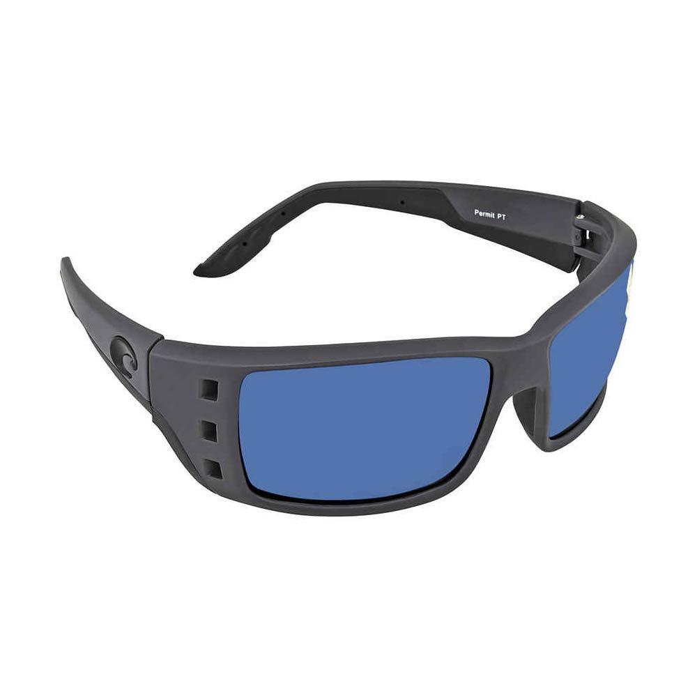 Matte Gray Blue Mirror Costa Del Mar Permit 580P Permit Direct PT98OBMP Blue Mirror Pro-Motion Distributing
