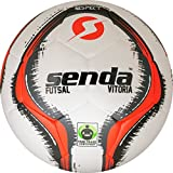 Senda Vitoria Match Futsal Ball, Fair Trade Certified, Red/Grey, Size 4 (Ages 13 & Up)