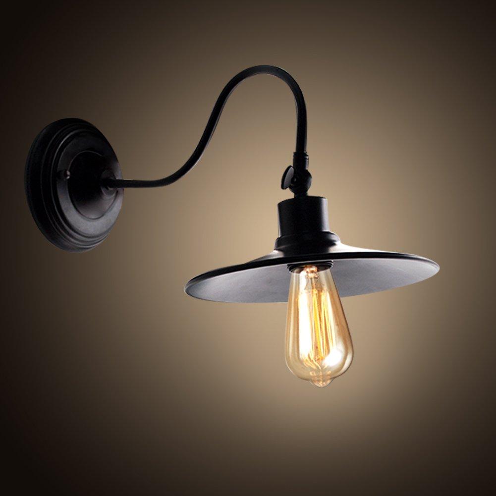 Industrial Wall Sconce- Edison Simplicity Light Black