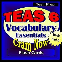 teas 6 prep test vocabulary essentials flash cards cram now teas