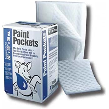 Paint Pockets Spray Booth Exhaust Arrestors Filters - WHITE - 20x20-30 Per Pack