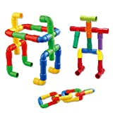 Feature:Children can experiment with connecting the pipes in a variety of ways  Different colors and shapes improve children's operational ability, creativity and logical thinking ability  Cultivate the DIY ability  Material:plastic Colour: As Pictur...