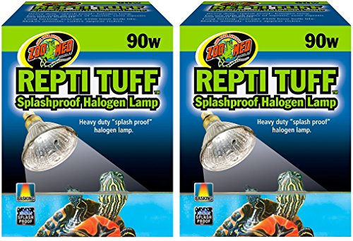 Zoo Med Turtle Tuff Splash - (2 Pack) Repti Tuff Halogen Lamp 90W