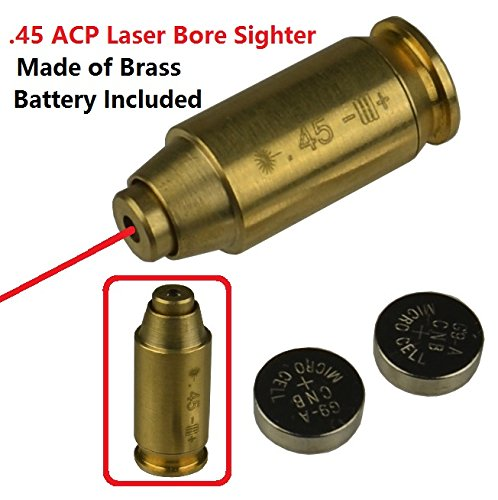 GRG 45ACP .45 Cartridge Pistol Laser Bore Sighter Boresighter Red Dot Laser US Seller, Made of Brass (Best 45 Acp Carbine)