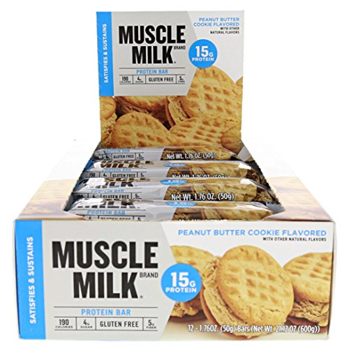 Cytosport Muscle Milk Blue Bar Peanut Butter Cookie 12-1.76oz Bars