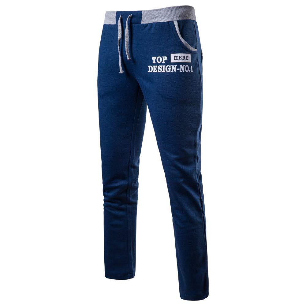 Pantalon Hommes Slim,SANFASHION Pants Loisirs Imprim/és Alphabet Pantalons Velours Chaud Grande Taille