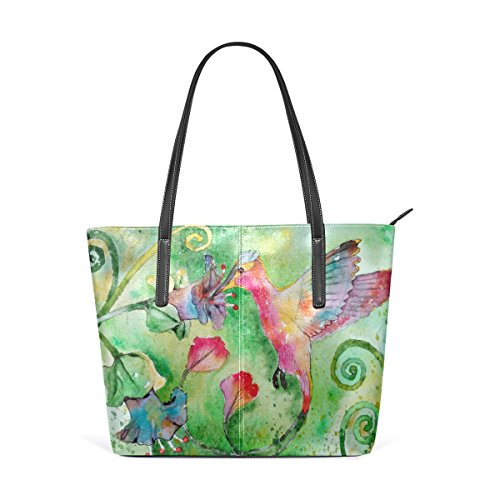 Flowers Satchel Women's Bennigiry Top Purse Tote Bags Hummingbird Handle Shoulder Handbags Large CwgwqxX