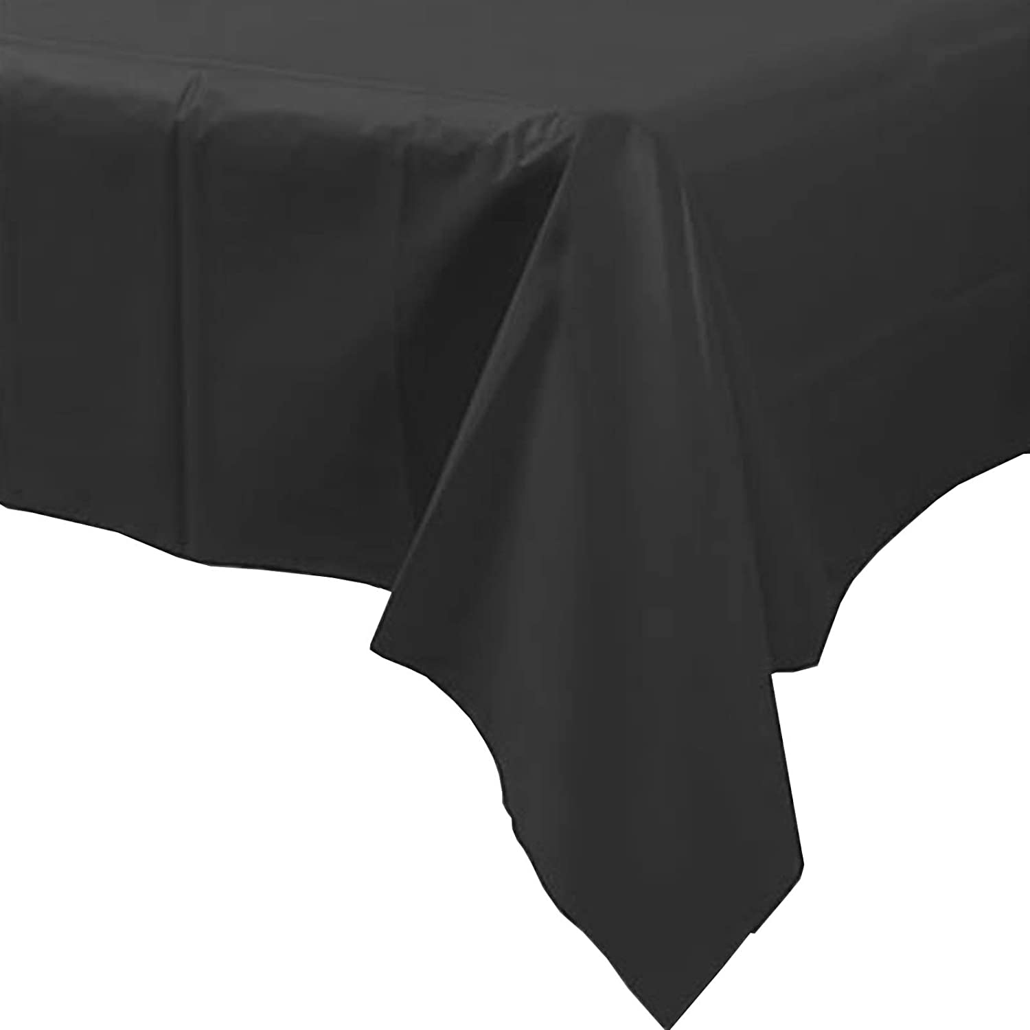 3 X Black Plastic Party Table Cover 54x108 Inch Amscan