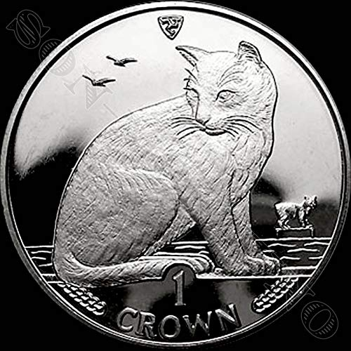 1990 NEW YORK ALLEY CAT - Uncirculated Cupro Nickel 1 Crown Coin - Isle of Man