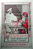 """E.B. Bird, 20's Color Illustration 9 1/2""""x14"""" Print art (Old Santa knows what's to eat he always chooses Cream of Wheat) oringial vintage, 1920 Needlecraft Magazine Historic Art***store link [www.amazon.com/shops/ads-thru-time]"""""""
