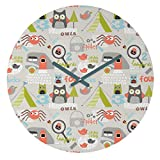 Cheap Deny Designs Wendy Kendall, Mini Camper, Round Clock, Round, 12″