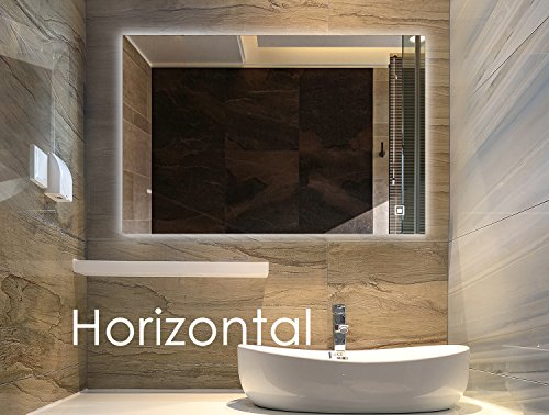 Bellagio Ii Backlit Mirror Led Bathroom Mirror Horizontal: Flipboard: Dimmable LED Frameless Wall Mounted Lighted