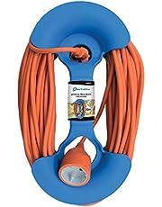 Electraline 94017 Avvolgicavo Avvolgiprolunghe Circolare, Blu