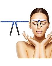 Tattoo wenkbrauwen liniaal, permanente make-up meetgereedschap metaal wenkbrauwen evenwicht liniaal vormen sjabloon gereedschap (blauw)