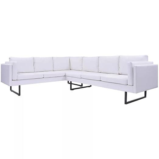 Tidyard- Sofá de Esquina Cuero Artificial Sofás Chaise ...