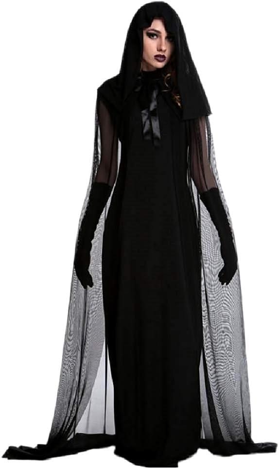 Disfraz de bruja - sacerdotisa - hechicera - morticia - novia ...