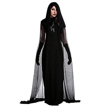 KIRALOVE Disfraz de Bruja - sacerdotisa - hechicera - Morticia ...