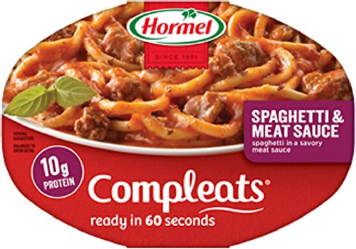 Hormel, ComplEats, Microwave Dinner, 10oz Tray (Pack of 8) (Choose Varieties Below) (Spaghetti with Meat Sauce)