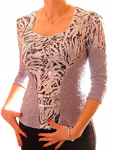 Poshtops - Camiseta - para mujer gris