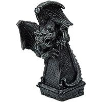 6 Inch Growling Gargoyle Creature on Roof Steep Statue Figurine
