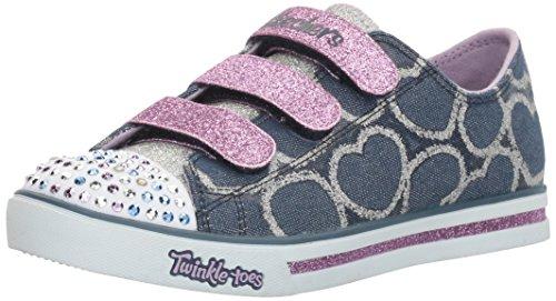 - Skechers Little Kid (4-8 Years) Twinkle Toes: Chit Chat-Prolifics Denim/Lavender Light-Up Sneaker - 3 M US Little Kid