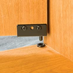 Black Simplex Concealed Hinges, pair