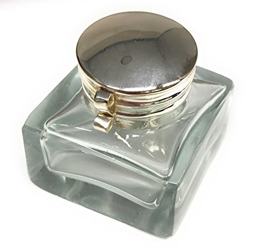 Madison Bay Company Square Clear Glass Mini Inkwell, 1.75 Inches Square X 1.75 Inches Tall