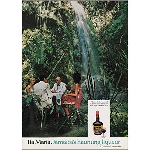 RelicPaper 1970 Tia Maria: Jamaicas Haunting Liqueur, Rose Hall Waterfall, Tia Maria Print Ad ()