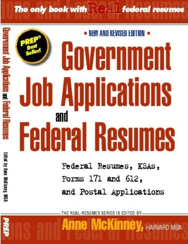 Government Job Applications And Federal Resumes