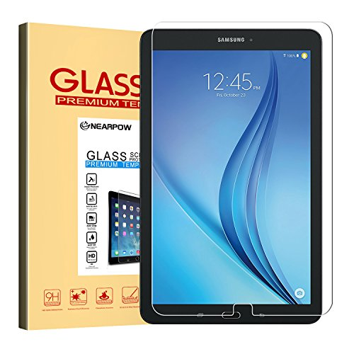 Samsung-Galaxy-Tab-E-96-Screen-Protector-96-Inch-Nearpow-Tempered-Glass-Screen-Protector-with-9H-Hardness-25D-Round-Edge-Crystal-Clear-Easy-Bubble-Free-Installation-Scratch-Resist