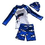 "Yober Baby Boys Rash Guards Swimsuit Swimwear (Blue, 6-7T(Height:45.3""-49.2""))"