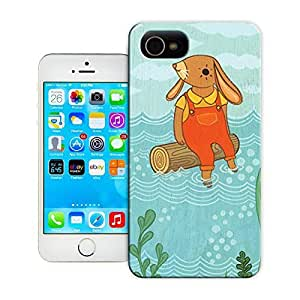 Unique Phone Case driftwood log art cute rabbit artwork Hard Cover for 5.5 inches iphone 6 plus cases-buythecase