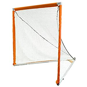 Park & Sun Sports Indoor/Outdoor Nylon Bungee Slip Net with Velcro Sleeves: Lacrosse Goal, White, 6' W x 6' H x 7' D