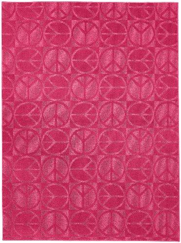 ... Purple Garland Rug Large Peace Area Rug, 5 Feet By 7 Feet, Pink