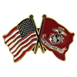 US Flag Store US and Marine Flag Lapel Pin