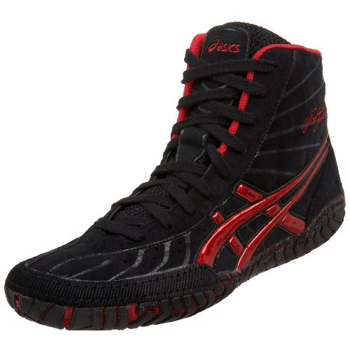 Amazon.com | ASICS Men's Rulon Wrestling Shoe, Black/Dark Red, 7.5 ...