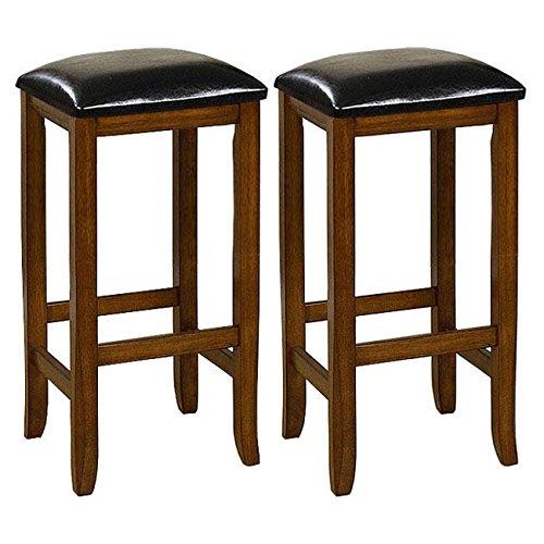 Mission-style 29-inch Oak Barstools (Set of 2) (Mission Oak Dining Room Bar Stool)