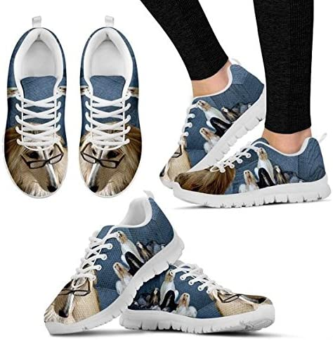 Shoetup Cute Afghan Hound Dog Print Mens Casual Sneakers