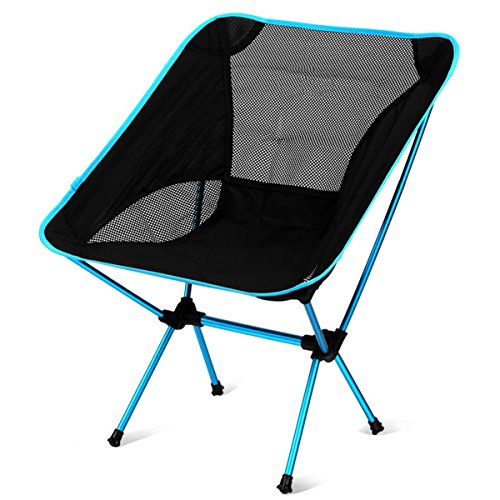 Light Weight Portable Folding Aluminum Alloy Outdoor Camping Chair, Cyclemann Super Comfort Heavy Duty Max 300 lbs, Perfect for Camping/Hiking/Fishing/Beach/Picnic