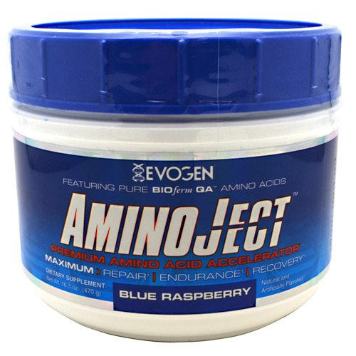 Amazon.com: Evogen Aminoject 30 Servings Amino Acids, Blue Raspberry, 16.8 Ounce: Health & Personal Care