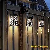 DenicMic Solar Wall Lights Outdoor Fence Solar
