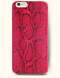 Apple iPhone 6 Case ( 4.7 inches) with Design of Magenta And Red Serpent Pattern - Snake Skin Print -OOFIT Authentic iPhone Skin by icecream design