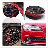 FidgetGear Car Bumper Lip Splitter Body Spoiler Skirt Valance Chin Protector Black 100