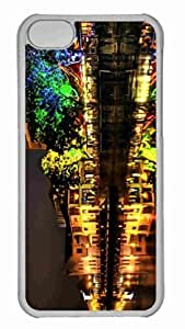 Customized iphone 5C PC Transparent Case - Colorful Night Lights Hdr Personalized Cover