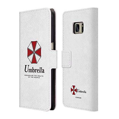 Official Resident Evil Umbrella 2 Logo Leather Book Wallet Case Cover for Samsung Galaxy S7