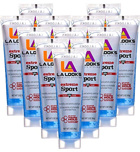 La Looks Gel Extreme Sport #10 Hold 3 Ounce (12 Pieces) (88ml)