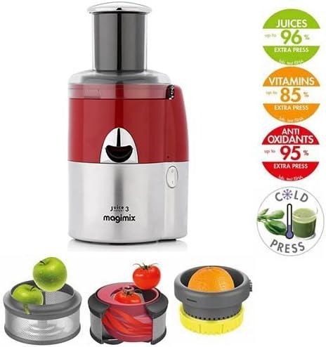 Magimix - Juice Expert 3 Extractor jugo juice expert 3 rojo/cromo ...