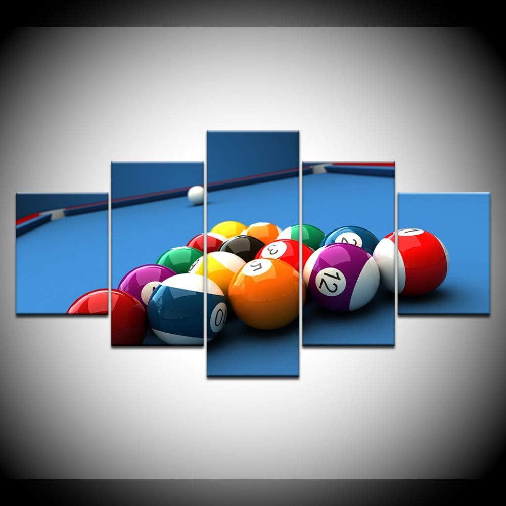 RMRM Pintura de la Lona Mesa de Billar Deporte 5 Unidades Arte de ...