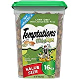 TEMPTATIONS MixUps Treats for Cats CATNIP FEVER Flavor 16 Ounces, With Our Mouthwatering Menu We Have a Flavor For Every Feline